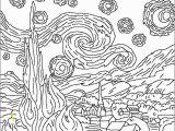 Van Gogh Starry Night Coloring Page Van Gogh Starry Night Coloring Page