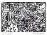 Van Gogh Starry Night Coloring Page Van Gogh Starry Night Coloring Page Vincent Van Gogh
