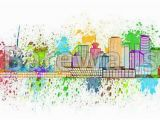 Vancouver island Wall Murals Vancouver Bc Skyline Paint Splatter Illustration Art Print