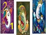Vastu Mural Wall Hanging Saf Ganesha Modern Art Framed Digital Reprint Painting