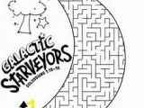 Vbs Coloring Pages 2017 Galactic Starveyors Coloring Sheet Vbs 2017 Day 1 Easy Maze