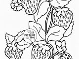 Vegetable Garden Coloring Pages Printable Ladybug and Strawberries Coloring Page for Kids Fruits