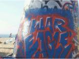 Venice Beach Wall Murals Huge War Eagle Graffiti Spray Prainted On Venice Beach