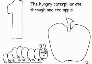 Very Hungry Caterpillar Book Coloring Pages Very Hungry Caterpillar Coloring Pages Free Download Caterpillar