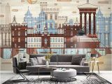 Victorian Wallpaper Murals Custom Wallpaper 3d City Building Murals Living Room Study