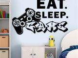 Video Game Wall Murals Gamer Wall Decal Eat Sleep Game Decals Vinyl Wall Art