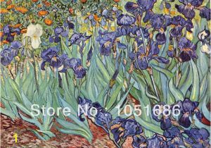 Vincent Van Gogh Wall Murals Quietly Irises Vincent Van Gogh Famous Paintings