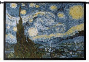 Vincent Van Gogh Wall Murals Tapestry Art the Starry Night Tapestry Wall Art Decor the