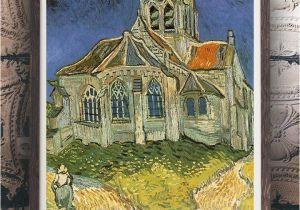 Vincent Van Gogh Wall Murals Vincent Van Gogh the Church at Auvers Oil Painting