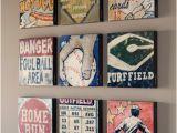 Vintage Baseball Wall Murals Sports Wall Art Decor Football Stadium Hot Dog for Boys