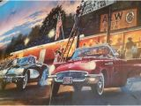 Vintage Car Wall Murals 1950 S Wall Mural Picture Of Hamburger Store Jefferson