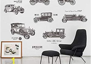 Vintage Car Wall Murals Amazon Inveroo Vintage Car Wall Stickers for Kids Rooms