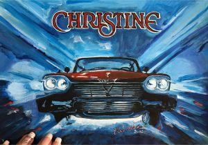 Vintage Car Wall Murals Plymouth Fury Christine Car original Acrylic Car Painting