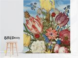 Vintage Floral Wall Mural Colorful Oil Painting Wallpaper Self Adhesive Removable