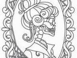 Vintage Halloween Coloring Pages Hers Skeleton Cameo Design Uth From Urbanthreads