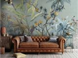 Vintage Jungle Wall Mural A Beautiful Tropical Vintage Wallpaper with A Vintage