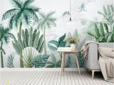 Vintage Jungle Wall Mural forest Wallpaper Palm Tree Wall Mural Tropical Jungle Wall Print Exotic Home Decor Cafe Design Living Room Bedroom