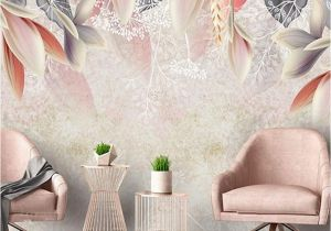 Vintage Landscape Mural Wallpaper 3d Custom Wallpaper Vintage Hand Painted Flowers nordic Minimalist
