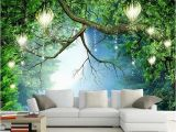 Vintage Landscape Mural Wallpaper 3d Wallpaper Beautiful Nature Scenery Fluorescent Mural Wall