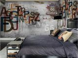 Vintage Landscape Mural Wallpaper Europe Stereoscopic 3d Graffiti Letters Retro Street Rock Wall