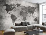 Vintage Landscape Mural Wallpaper European Vintage Retro World Map Wall Bar Coffe Shop Murals Bedroom