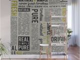 Vintage Wood Wall Mural Newspaper Wall Mural by Catherinedonato