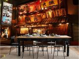 Vintage Wood Wall Mural Us $11 47 Off Retro Japanese Izakaya Wallpapers Mural for Japanese Rotisserie Sushi Restaurant Industrial Decor Wallpaper 3d Wall Paper In