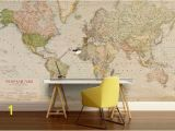 Vintage World Map Wall Mural World Map Wall Decal Wallpaper World Map Old Map Wall