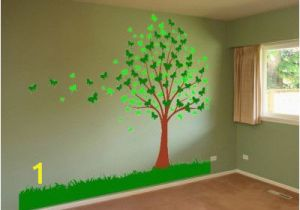 Vinyl Mural Wall Art butterfly Family Tree Leaves Removable Mural Wall Art