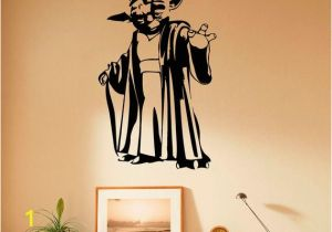 Vinyl Mural Wall Art Master Yoda Wall Decal Vinyl Stickers Star Wars Home Interior Art Design Murals Bedroom Wall Decor 33s01w