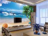 Vinyl Wall Mural Beach 3d Beach Starfish Drift Bottle 1298 Aj Wallpaper