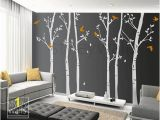 Vinyl Wall Murals Nature Tree Wall Decals Winter Trees Decal Birds Nature forest Trees with
