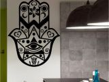 Vinyl Wall Murals Uk Wall Decals Hamsa Hand Eye Indian Buddha Yoga Fatima Mandala