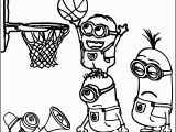 Volleyball Player Coloring Pages Minion Playing Basketball Coloring Pages