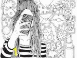 Vsco Girl Coloring Pages Coloring Page Square and Other format Vector