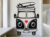 Vw Campervan Wall Mural Vw Camper Van Wall Art Decal Vinyl Sticker Decor Mural Transfer Surf