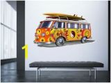 Vw Campervan Wall Mural Vw Camper Van Wall Stickers