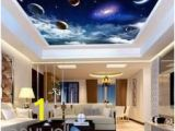 Wall and Ceiling Murals 3d Wallpaper Planet Space View Ceiling Art Wall Murals