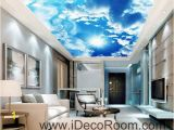 Wall and Ceiling Murals Sunshine Clouds Blue Sky Ceiling Wall Mural Wall Paper