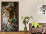 Wall and Door Murals 3d Window In the Arch Door Mural Aj Wallpaper