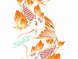 Wall and Mural Stencils Stencils for Walls Koi Fish Stencil Would Be Perfect for A