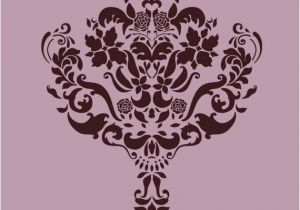 Wall and Mural Stencils Wall Damask Stencil Pattern Faux Mural 1004