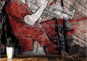 Wall Art Wallpaper Murals Uk Street Saxophone Player