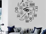 Wall Canvas Decal Mural Details About Vinyl Decal Makeup Cosmetics Woman Girl Beauty