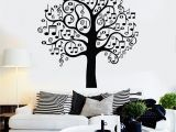 Wall Canvas Decal Mural Vinyl Wall Decal Musical Tree Music Art Decor Home