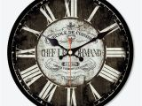 Wall Clock Horloge Murale Good Price Antique Saat Vintage Round Wood Wall Clock