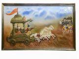 Wall Hanging Murals India Wall Hanging Hand Made 3d Mural Painting Mahabharata A