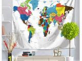 Wall Hanging World Map Mural Amazon Xiaoli& Tapestry Hippie Tapestry Mandala