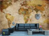Wall Hanging World Map Mural Vintage World Map Wall Mural In 2019 Dorm Stuff
