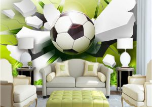 Wall Mural App Custom Wall Mural Wallpaper Modern 3d Stereoscopic Football Broken